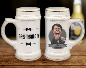 Personalized Groomsmen Gift Ideas, Groomsmen Gift, Best Man Gift Idea, Groomsmen Beer Stein, Will you be my Groomsman Proposal