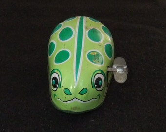 Frog wind up clockwork vintage c1960stoy by ALCO made in Japan
