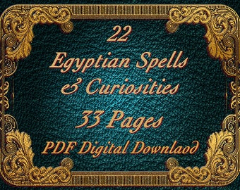 Egypsian Spells, 22 spells 33 pages, BOS Pages Withcraft