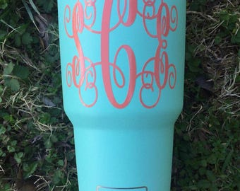Colored Monogrammed Yeti's