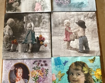 Cute Photo Decoupage Napkins