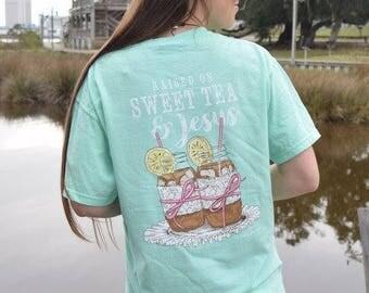"""Anna Grace Tees """"Sweet Tea & Jesus"""""""