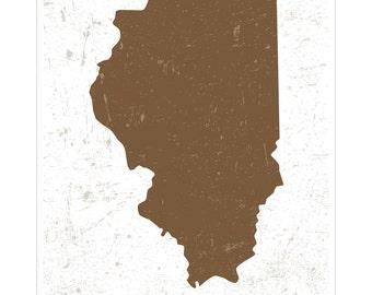 Chicago, Illinois - Capital City Map Art Poster
