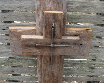 rustic decor, CYPRESS wooden cross, unique wall crosses, decorative wall crosses, rustic cross, wall decor, reclaimed wood
