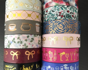 """24"""" SAMPLES of Simply Gilded foil washi tape (M124)"""