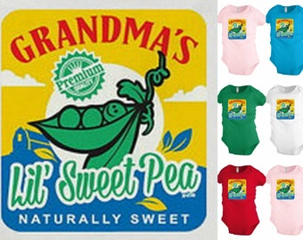 Grandma's Lil Sweet Pea baby infant bodysuit snapsuit One piece creeper KP216