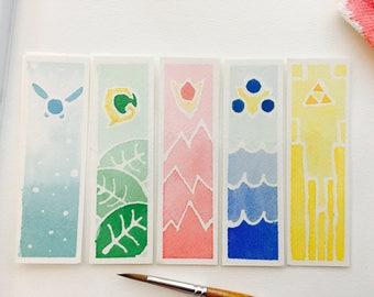 Legend of Zelda: Ocarina of Time Watercolor Bookmark Bundle