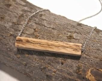 Wood Bar Necklace | Wood Block