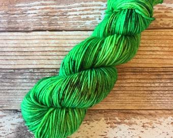CLEARANCE - Delia - Avada Kedavra  - Hand Dyed Yarn - 100% SuperWash Merino, Worsted Weight