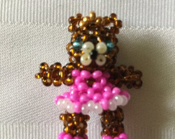 Sugar plum fairy Bear doll pendant