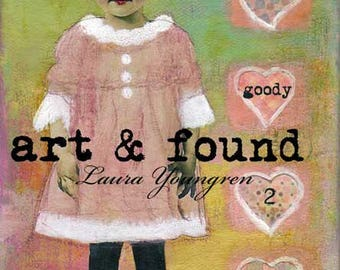 "DIGITAL PRINT of a mixed media acrylic painting ""Miss goody 2 shoes"" by Laura Youngren"