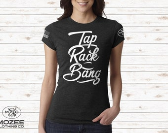 Tap Rack Bang Perfect Black Tee