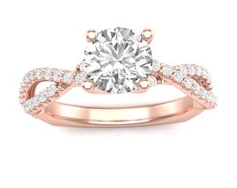 Engagement ring rose gold  Rose gold engagement ring | Etsy