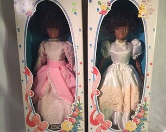 Vintage Tanline Fashion Doll White Dress