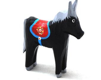 Folk horse / folk toy / hand carved horse / hand painted horse / folk art from Poland