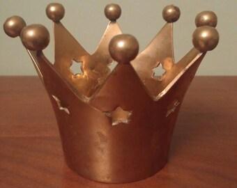 Vintage Brass Crown Decor