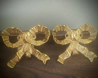 Vintage Brass Bows Set of 2