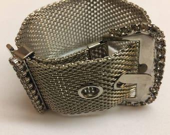Signed Triad Buckle Bracelet