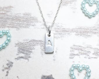 Initial Necklace, Initial Pendant, Name Necklace, 21st Birthday Gift, Monogram Necklace, Silver Initial Necklace, 18th Birthday Gift