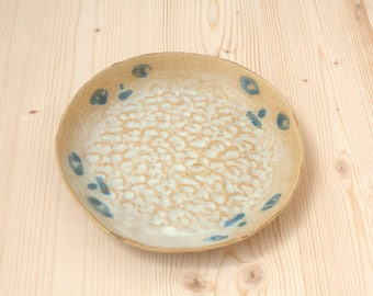 Plate textured stoneware, handmade to order