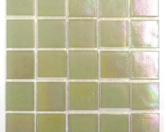 """Light Beige Iridescent Glass Tiles 9/16"""""""