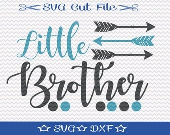 Little Brother SVG File / SVG Cut File for Silhouette / Little Boy svg / Best Brother svg