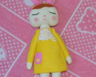 Rag Bunny Fleece Sleeper Bunny rabbit decoration Bunny for a child in bed Bunny in a gift Bunny in a dress
