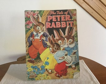 Vintage The Tale of Peter Rabbit  Book  circa 1940