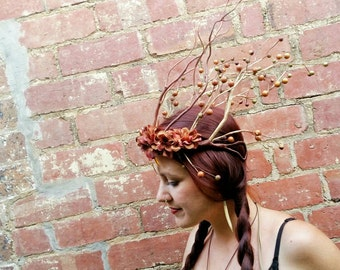 Elven Autumn Crown/Enchanted Forest Pixie Headdress/Festival Headpiece, Fantasy, Cosplay