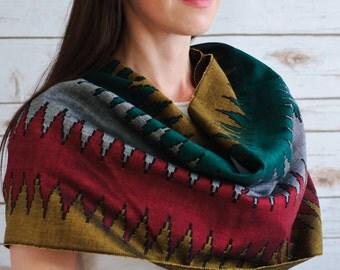 Fairtrade Sky Dhakka Cotton Scarves
