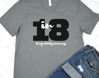 1 in 8 #infertilityawareness, IvF Gift, IvF, TTC, Infertility, Women's t-shirt, Mother's Day Gift, Encouragement, IvF Gift, IVF Mom