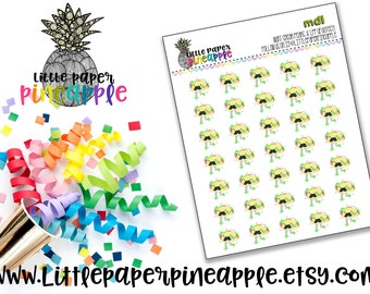 HAND DRAWN Dancing Taco - Taco Night Planner Stickers // Repositionable Matte Stickers | MD1