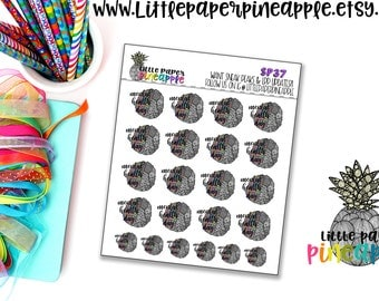 Rainbow *Hand Drawn* MENTAL HEALTH Planner Stickers | Repositional Matte Stickers | SP37