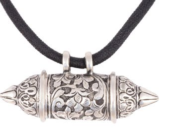 Sterling Silver Tribal Bohemian Antique Indian Pendant necklace for women
