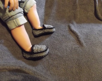 Crochet Baby boy loafers