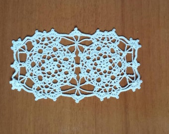 New white handmade crochet doily / Table center decoration / Table piece