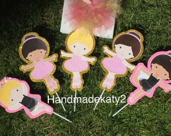 Ballerina   Ballet party  stick character only.