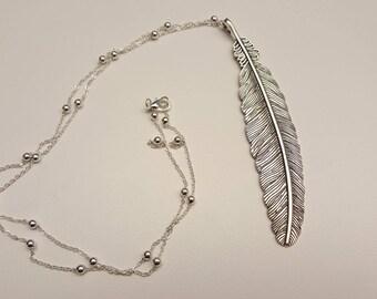Silver Leaf Pendant Necklace