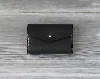 Leather Short Wallet // Black