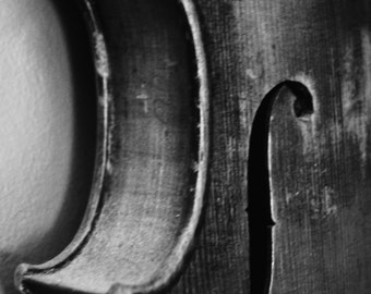 Violin print, violin scroll, antique violin, black & white photography, music photography, abstract, musical instrument, music, wall-art