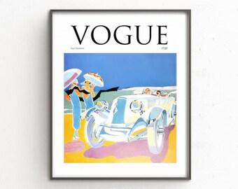 Vogue print, Vogue Cover print, Vogue 1920s Ad Print, Vogue Poster, Vogue Wall Art, Vogue 1920s Print, Fashion Cover, Couture Magazine,