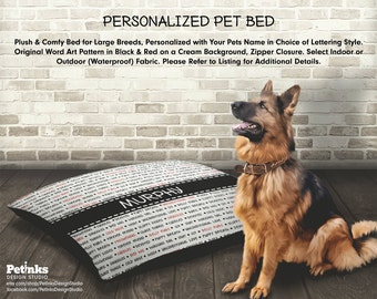 Custom Pet Bed Large Breed Personalized Bed, Large Breed Dog Bed, Big Dog Bed, Custom Dog Bed, Personalized Dog Bed, Pet Cushion, Pet Pillow
