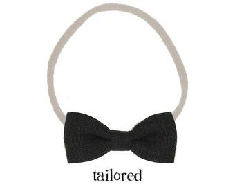 Black Nylon Headband / Baby Headband / Baby Bows and Headbands / Baby Girl Headband / Infant Toddler Headband / Newborn Headband / Baby Bows