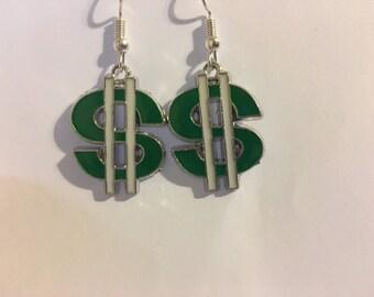 Dollar Sign  Earrings  J20