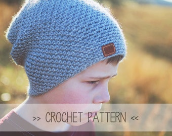 CROCHET PATTERN | The Missions Beanie | Crochet Slouchy Beanie