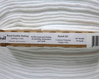 Bosal #325 High Loft Wading / Fleece 1 side fusibel Per half Metre