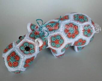 Crochet Hippo, Plush Hippo, Stuffed animal, Heidi Bears Hippo, Child's Toy, Nursery decor, Baby shower gift, Plush toy, Plush doll
