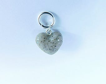 Heart of Stone Charm/Jewelry Findings/Beading Supplies