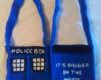 Dr. Who Crocheted Bag