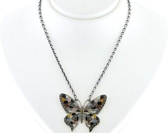 ElittBijoux Chain Butterfly Necklace